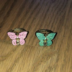 Vintage 90s butterfly rings